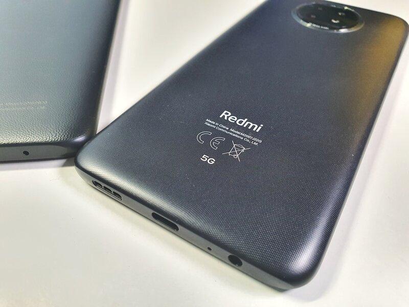 Redmi Note 9T:n takakannessa on merkki 5G-yhteyksistä