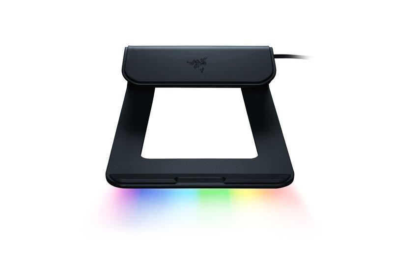 Razerin uusittu kannettavan teline sisältää chroma valaistuksen