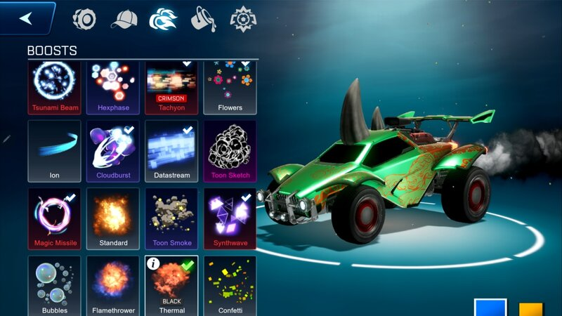 Rocket League Sideswipessä voi myös kustomoida omaa autoaan
