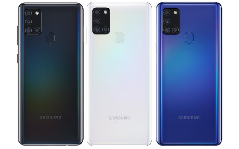 Galaxy A21s värivaihtoehdot