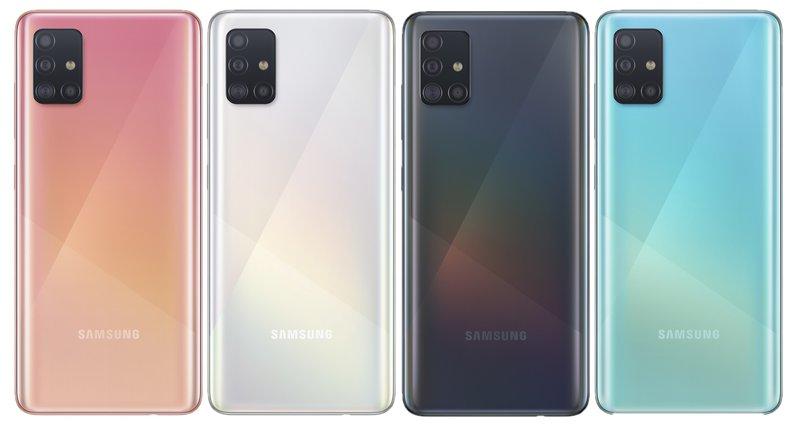 Samsung Galaxy A51 tulee saataville neljässä värissä
