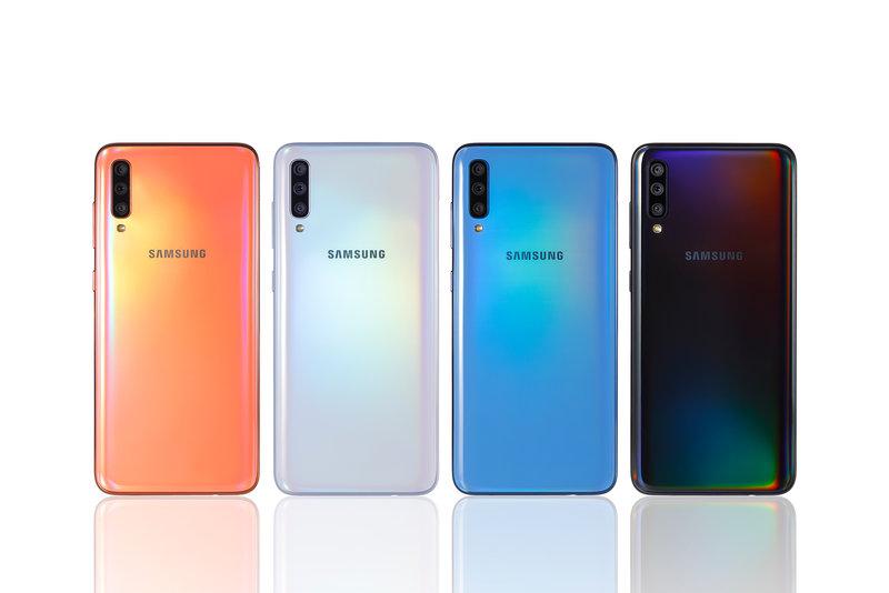 Galaxy A70 on saatavilla neljässä värissä