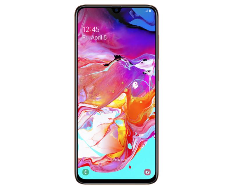 Galaxy A70 on yksi Samsungin laadukkaista keskitason puhelimista