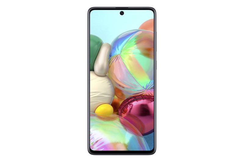 Samsung Galay A71 puhelin edestä