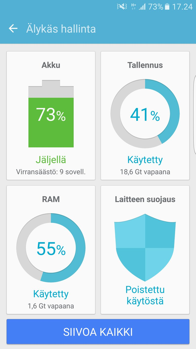 Samsung Galaxy S7 edge - asetukset