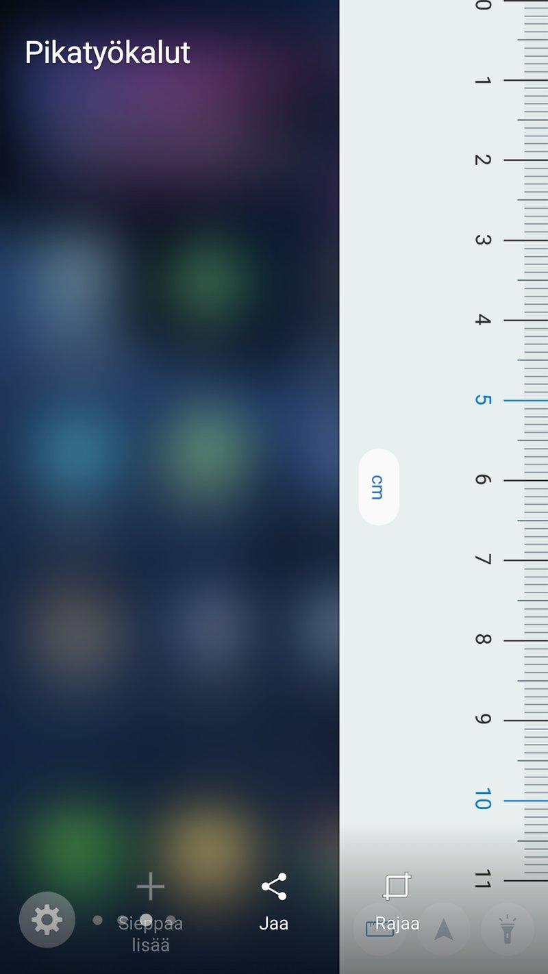 Samsung Galaxy S7 edge - reunanäyttö