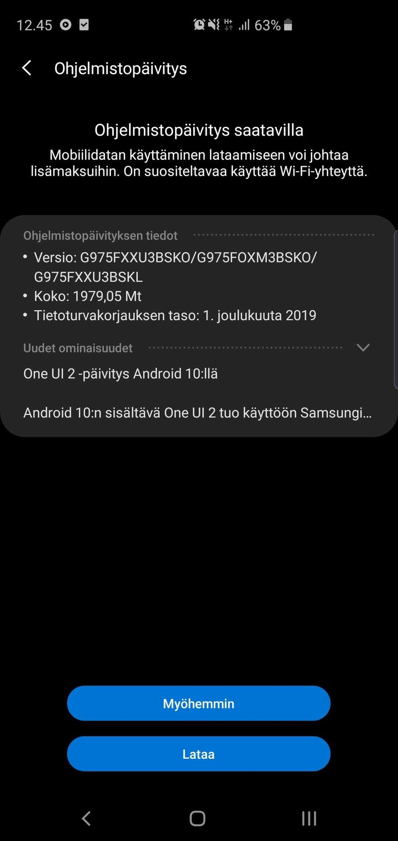 Android 10 on saapunut Galaxy S10 puhelimille