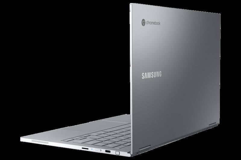 Galaxy Chromebook harmaassa värissä