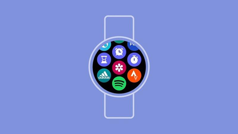 Sovelluskuvakkeet One UI Watch -käyttöliittymässä