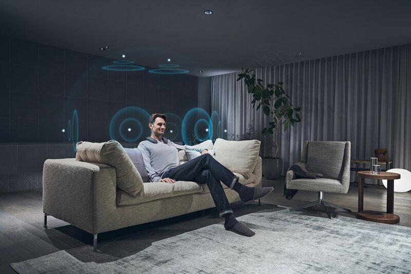SRS-NS7 kaiuttimet tuottavat 360 asteen tilaäänen yhdessä Bravia XR television kanssa