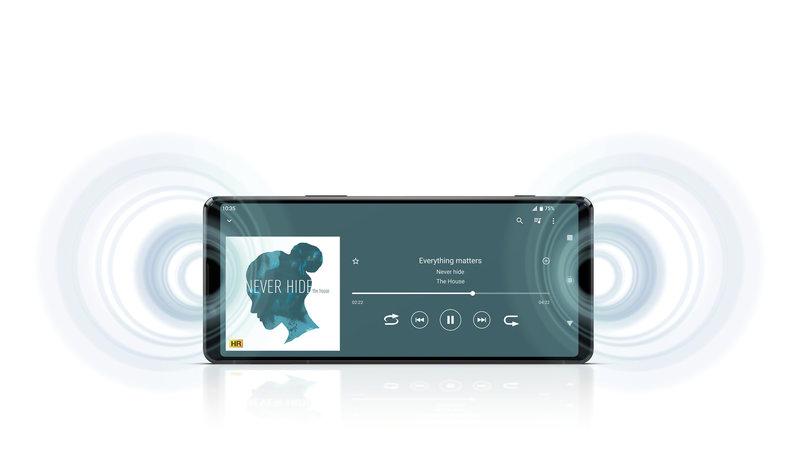 Xperia 1 II käyttää eteenpäin suunnattuja stereokaiuttimia