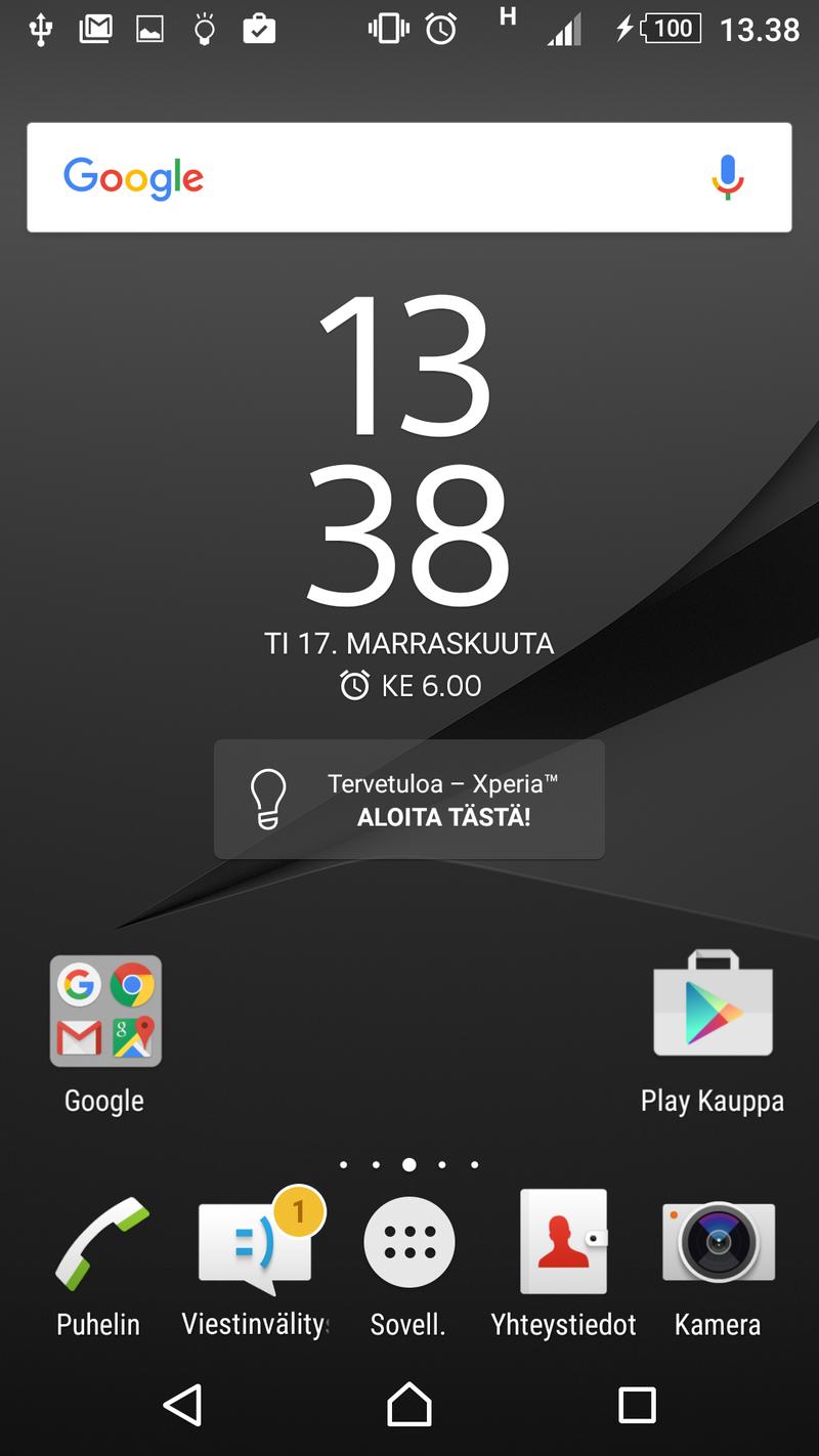 Sony Xperia Z5 Premium - Ohjelmisto