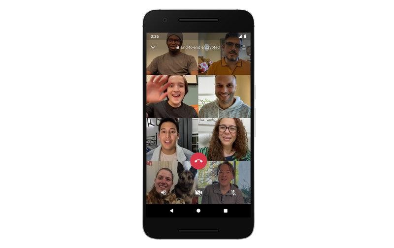WhatsAppissa voi keskustella videon välityksellä kahdeksan ihmisen kanssa samanaikaisesti