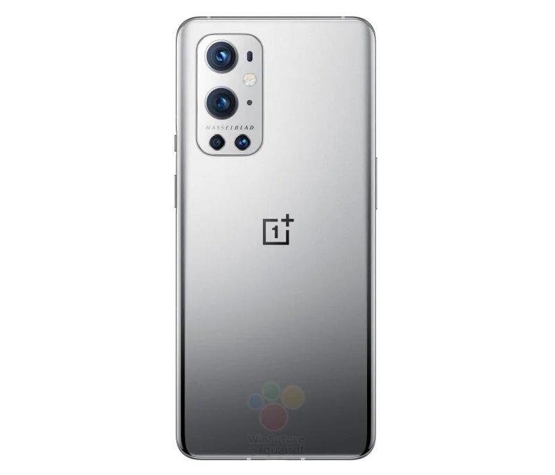 OnePlus 9 Pro vuotokuvassa hopeassa värissä