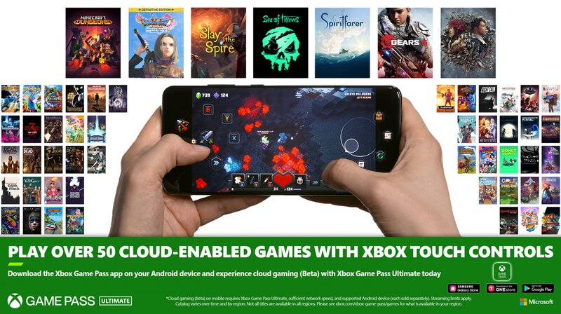 yli 50 pilvipohjaista peliä saa tuen xbox-kosketusohjaukselle