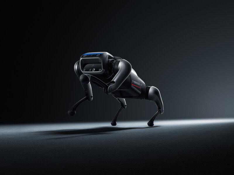 CyberDog robottikoira kävelemässä