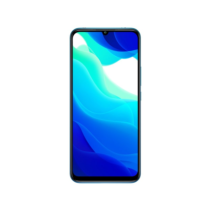 Xiaomin Mi 10 Lite 5G puhelin edestä