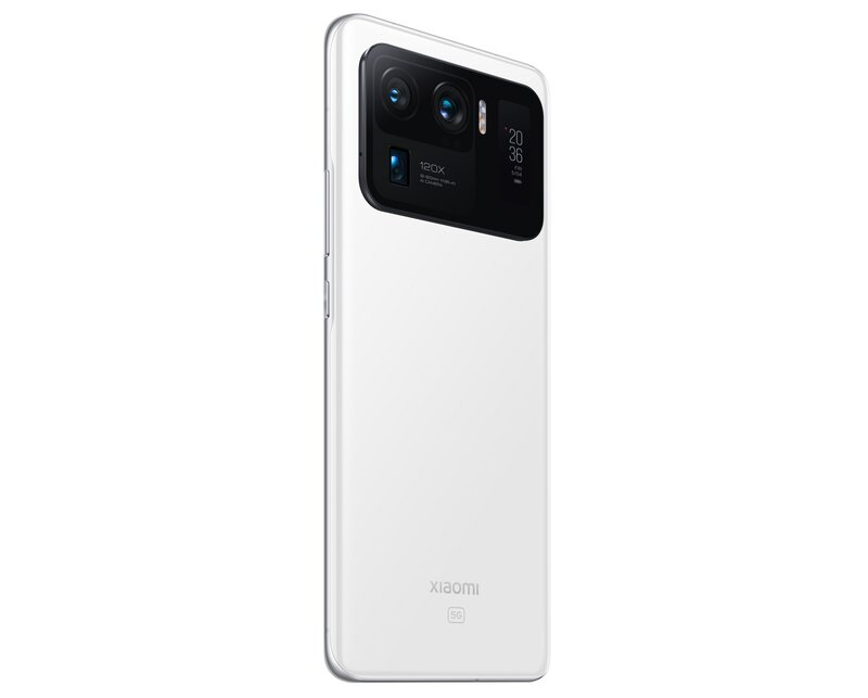 Mi 11 Ultra valkoisess värissä