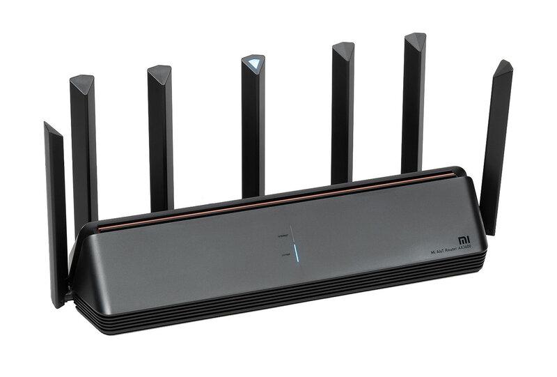 Mi AIoT Router AX3600 reititin sisältää kuusi antennia ja yhden älyantennin
