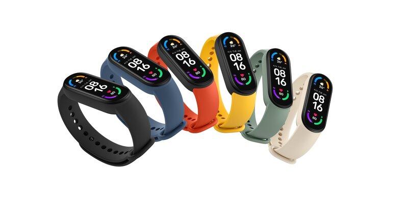 Mi Smart Band 6 aktiivisuusranneke eri väreissä