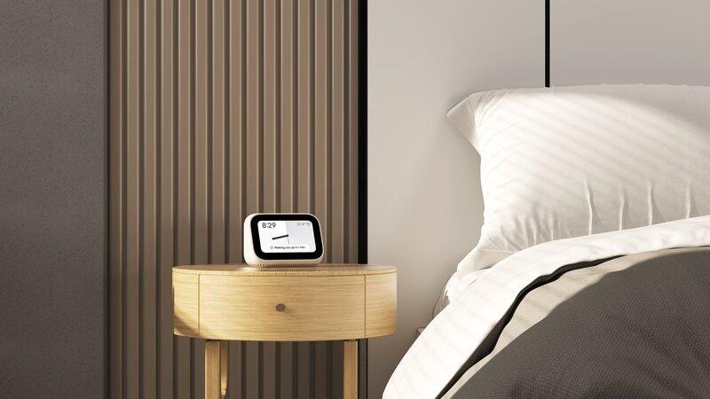 Mi Smart Clock sängyn vieressä