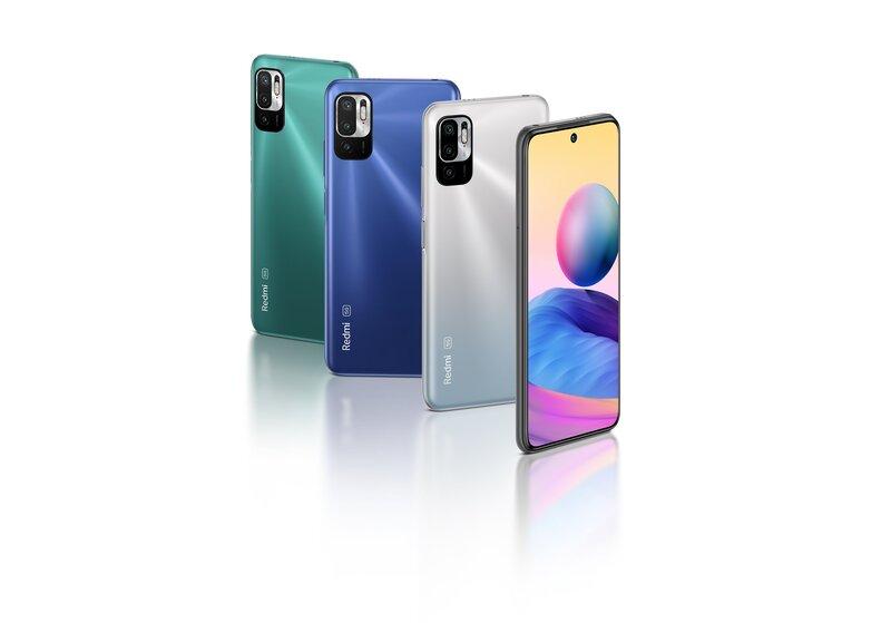 Redmi Note 10 5G puhelinmalli eri väreissä