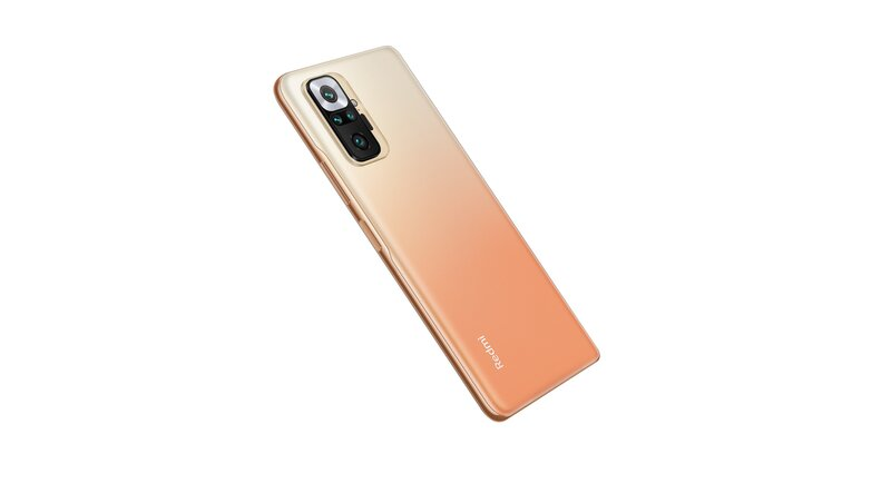 Redmi Note 10 Pro kultaisessa värissä