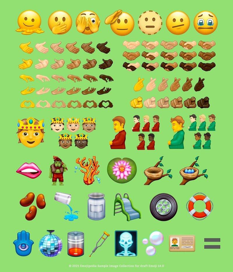 uudet emojit vuodelle 2021 - 2022