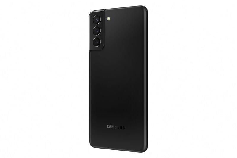 Galaxy S21+ mustassa värissä