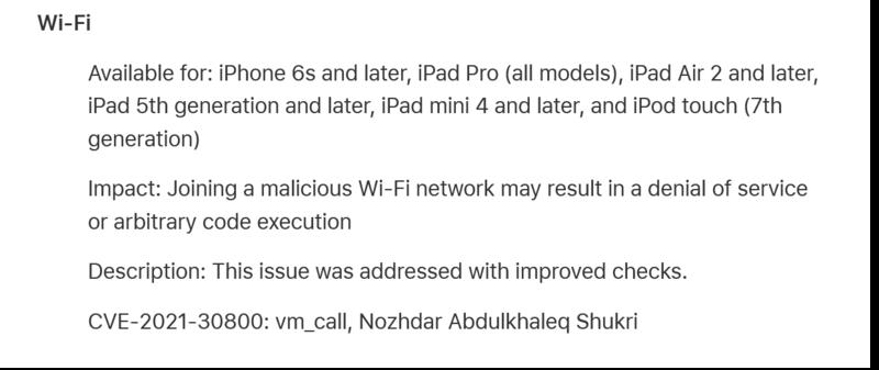 Apple kertoo ios 14.7 korjanneen wifiin liittyviä ongelmia
