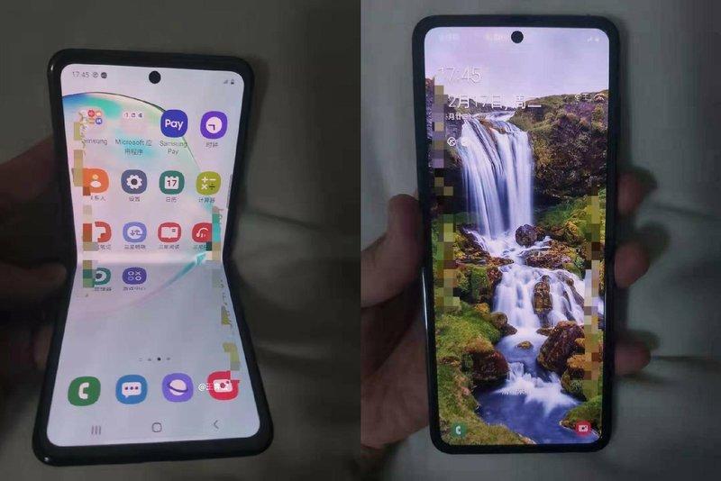 Samsungin simpukkapuhelimen näytön kuvasuhde voi olla 21:9 ja koko 6,7 tuumaa