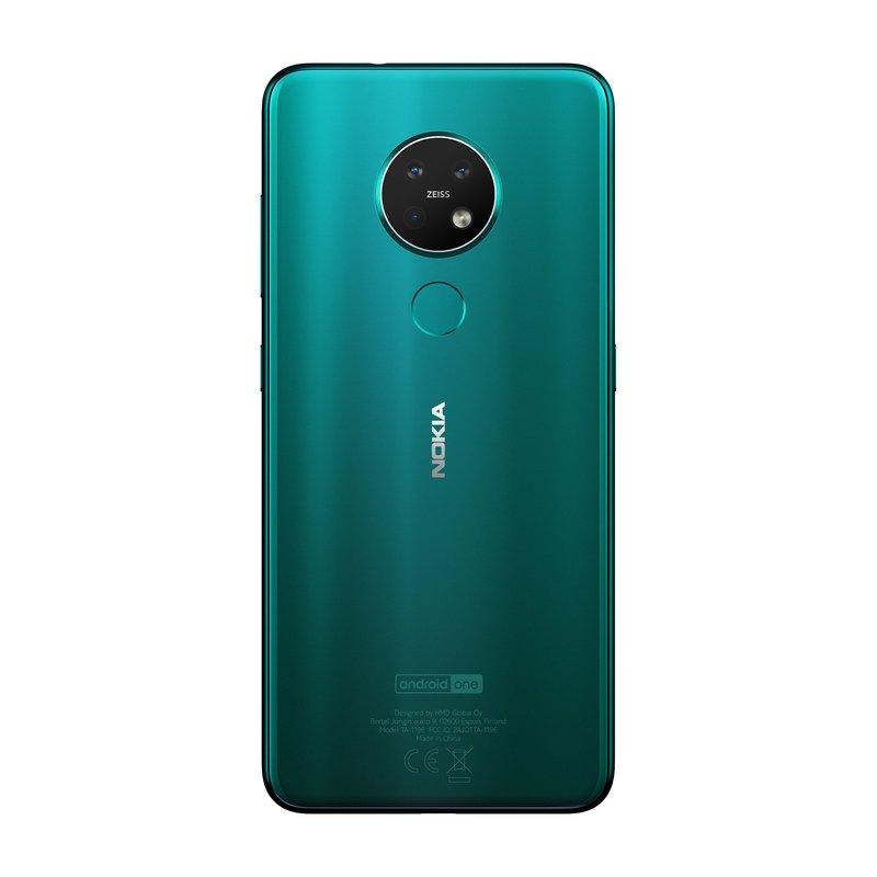 Nokia 7.2 takaa kuvattuna