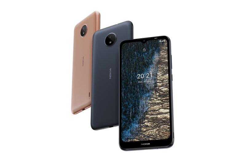 Nokia C20 eri väreissä