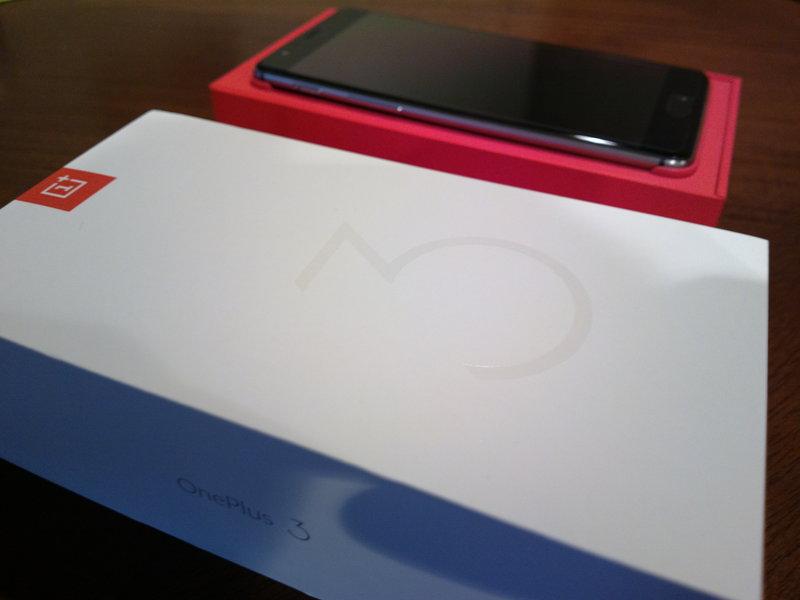 OnePlus 3 - paketin sisältö