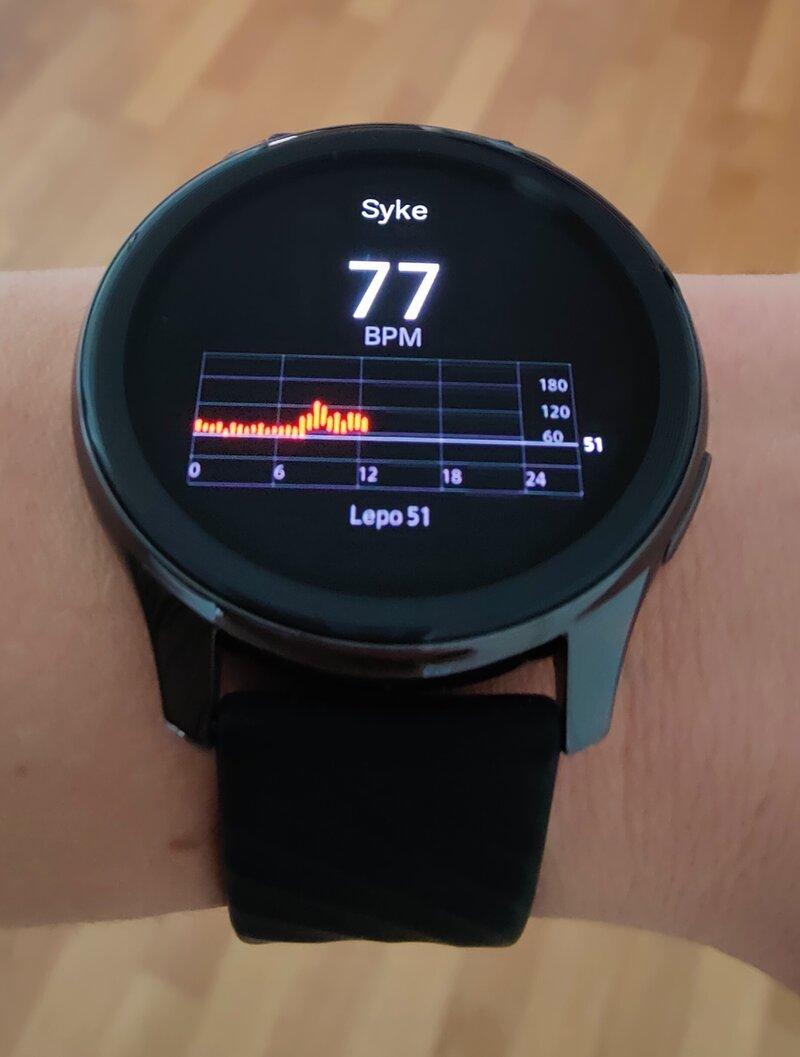 OnePlus Watchin sykkeenmittaus