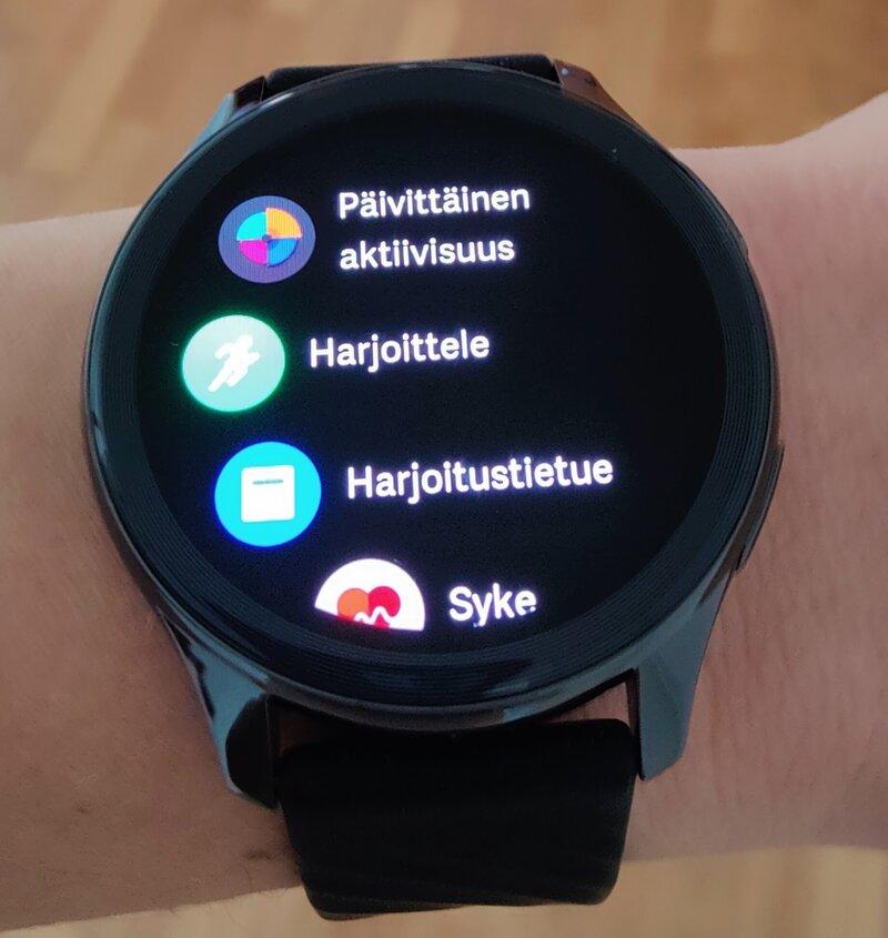 OnePlus Watchin valikoita