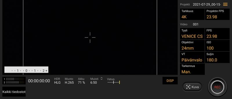 Sony Xperia 1 III Cinema Pro -sovellus
