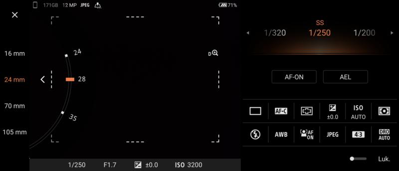 Sony Xperia 1 III kamerasovelluksen ammattilaistila