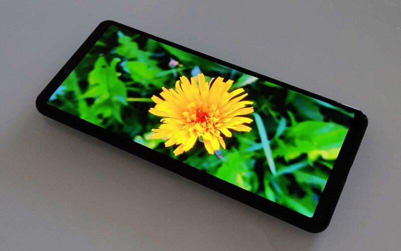 Sony Xperia 10 III näyttö, kuva ruudulla