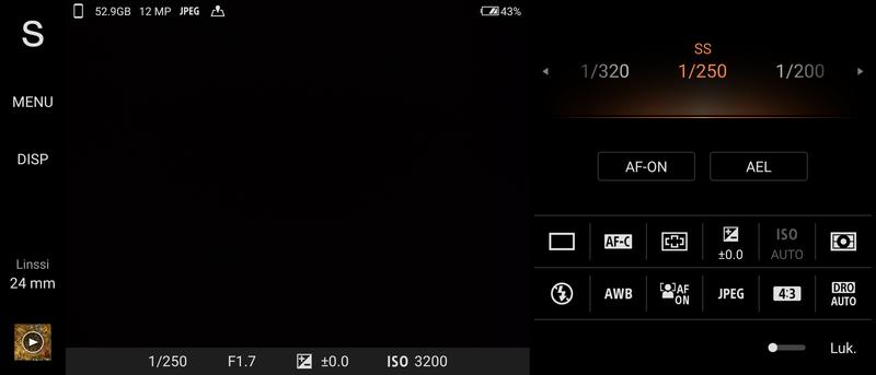 Sony Xperia 5 III kamerasovelluksen Pro-tila