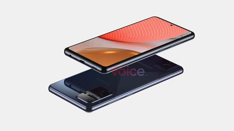 voice-comin mallinnuskuva Galaxy A72 5G:stä