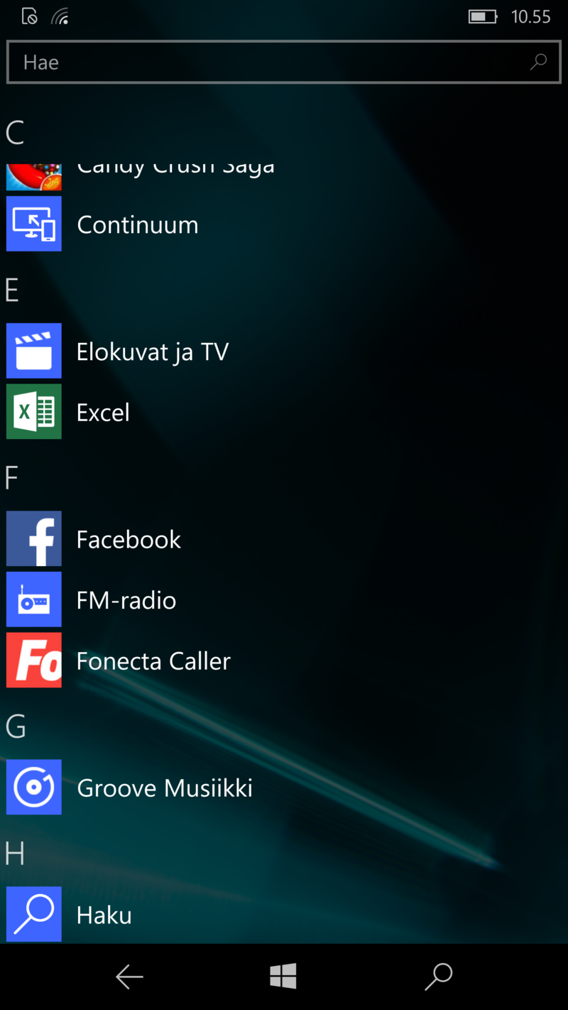 Windows 10 Mobile - Sovellukset