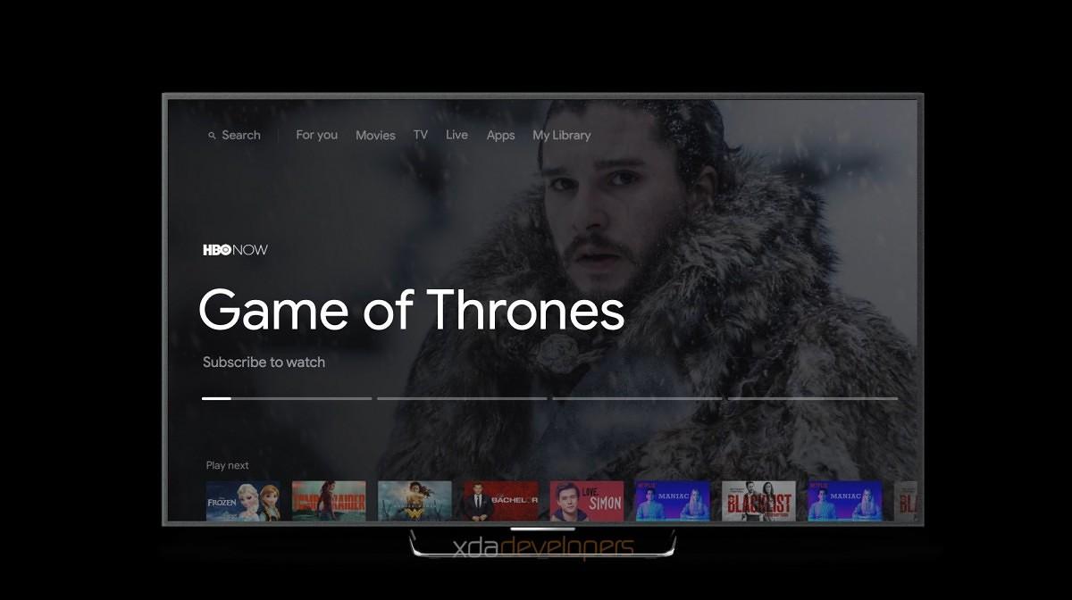 Android TV googlen medialaitteessa
