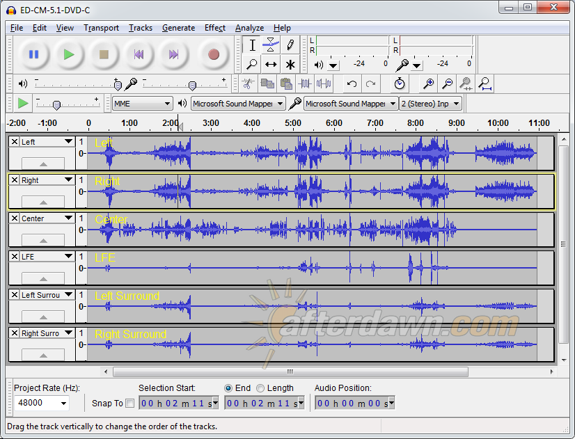 Audacity 5.1 Channel WAV project - AfterDawn.com
