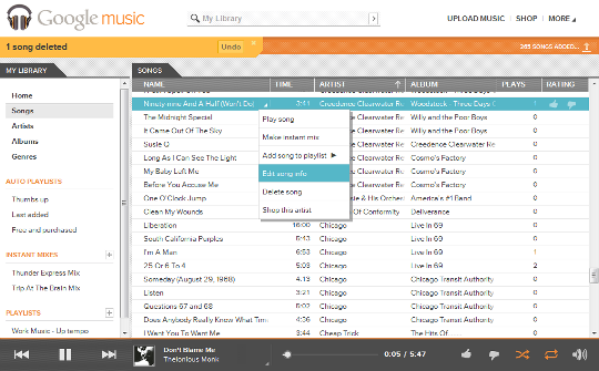 Google Music Library