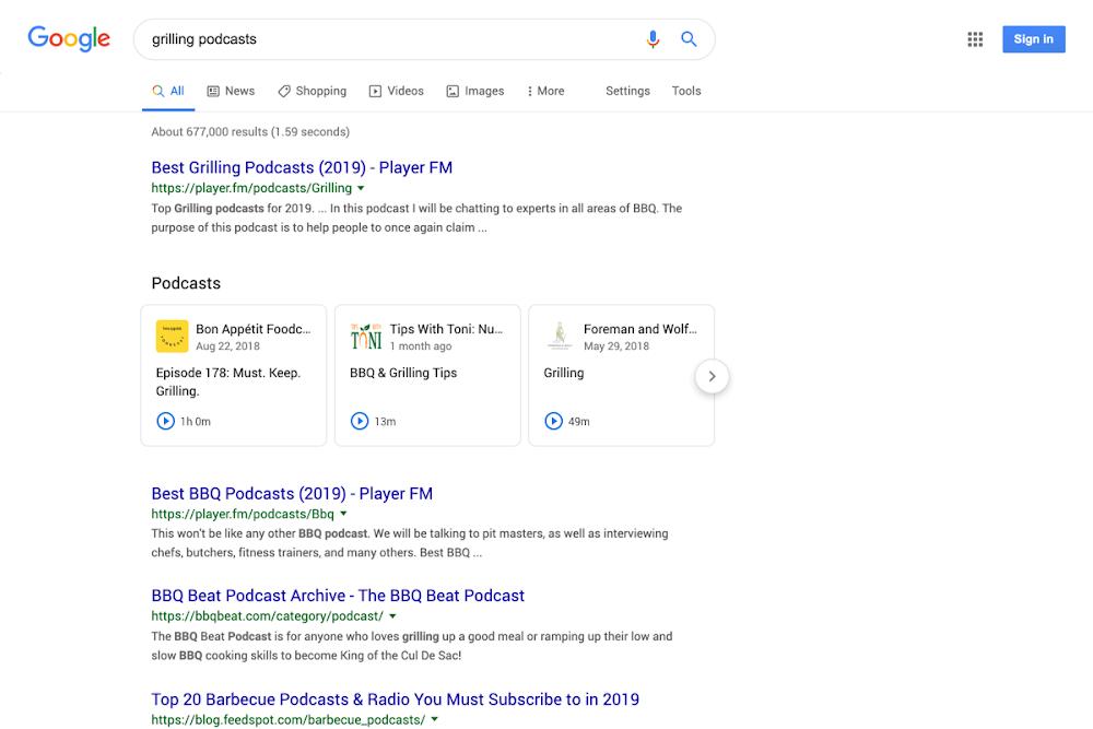 Google näyttää podcastien jaksot suoraan hakutuloksissa