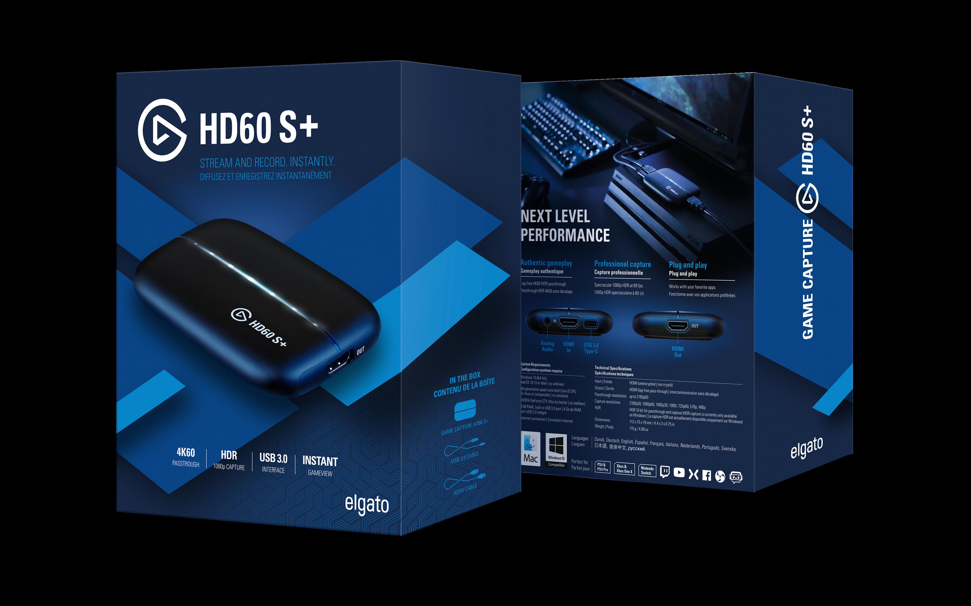 HD60 S+ myyntipakkaus