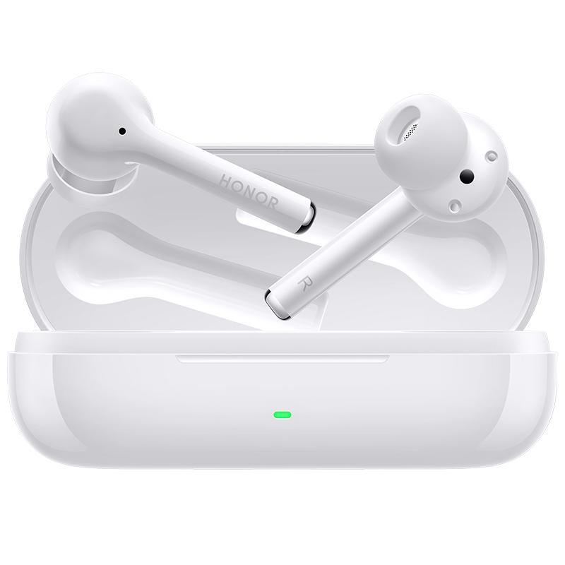 Magic Earbuds kuulokkeet valkoisessa värissä kotelossa