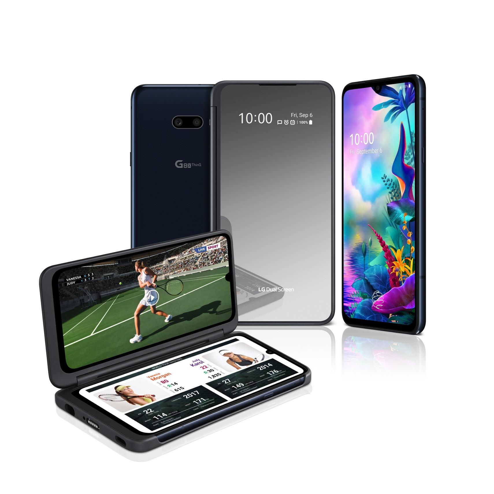 LG G8X ja sen Dual Screen lisänäyttö mahdollistavat kahden sovelluksen käytön samanaikaisesti