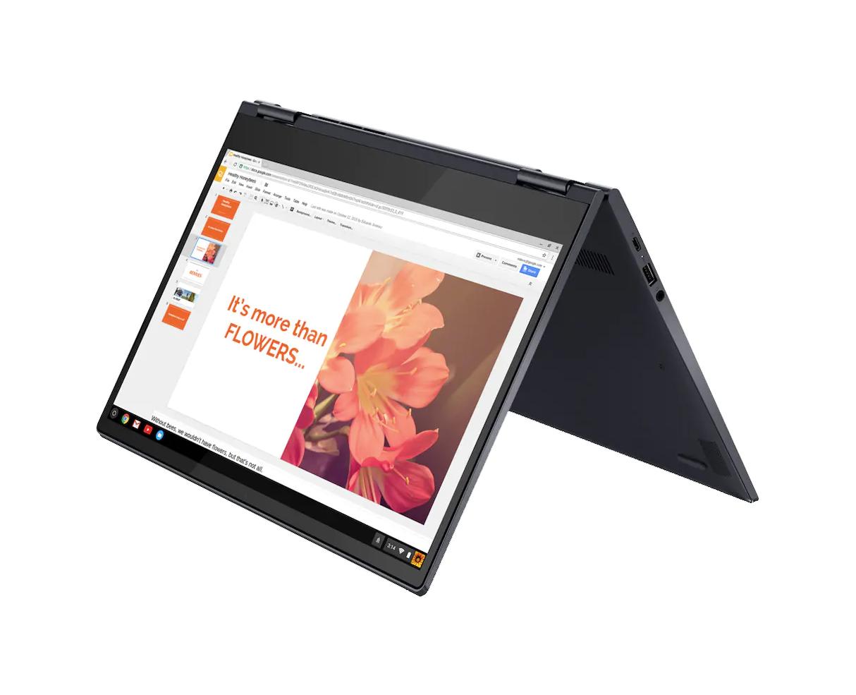 Lenovon Chromebook telttatilassa